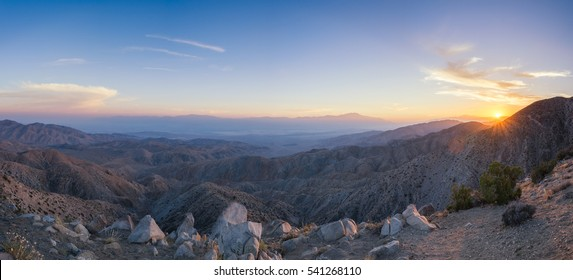 Keys View and Overlook during a gorgeous sunset
