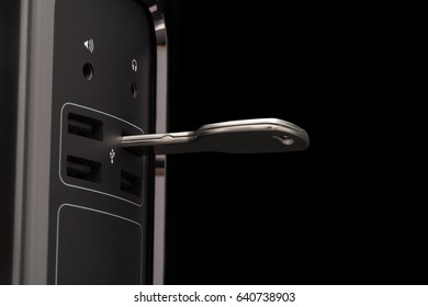 Key-shaped flash memory connected to a dark computer
