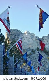 KEYSTONE, SD -7 NOV 2015- The Mount Rushmore National Memorial is a sculpture by Gutzon Borglum representing the giant heads of four American presidents sculpted in a mountain.