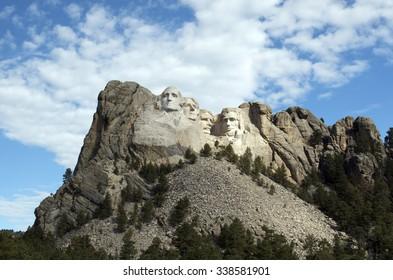 KEYSTONE, SOUTH DAKOTA July 2015 - Mt. Rushmore National Memorial near Keystone, North Dakota, USA