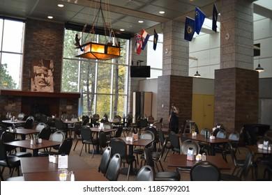 Keystone, South Dakota. U.S.A. September 11-12, 2018.  Mount Rushmore dining, desserts and  beverages at Carver's Marketplace, Rushmore Roasters, Dakota Kitchen, Blackhills Harvest, Dakota Marketplace