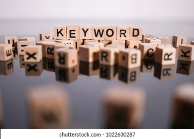 Keyword word cube on reflection
