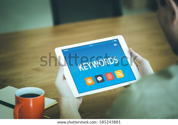 KEYWORDS CONCEPT ON TABLET PC SCREEN