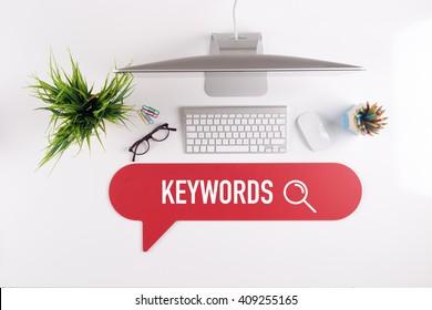 KEYWORDS Search Find Web Online Technology Internet Website Concept