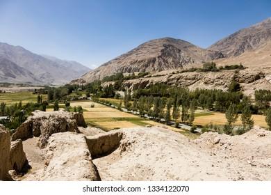 Khaaka Fort in the Wakhan Valley near Vrang in Tajikistan.