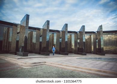 Khabarovsk, Khabarovsk Krai / Russia - 08.28.2016: Memorial complex at Slava Square in Khabarovsk