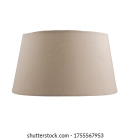 Khadi Drum Lampshade Without Lamp Isolated on White Background