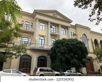 Khagani street view in Baku, Azerbaijan