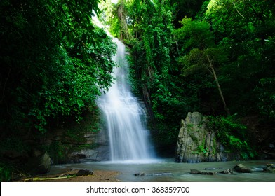 KHAGRACHARI, BANGLADESH- SEPTEMBER 06, 2012: This beautiful Waterfall commonly known as SHUKNACHARA FALLS amidst mesmerizing greenery is located in KHAGRACHARI, BANGLADESH.