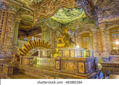 Khai Dinh Emperor's Mausoleum in Hue Vietnam