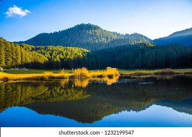 Khajjiar, Himachal Pradesh, India - October 27, 2018 : The picture was taken at the picturesque Khajjiar Valley, which sees hordes of tourists every year.