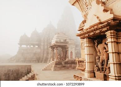 The Khajuraho Group of Monuments: a group of Hindu and Jain temples in Madhya Pradesh, India.
