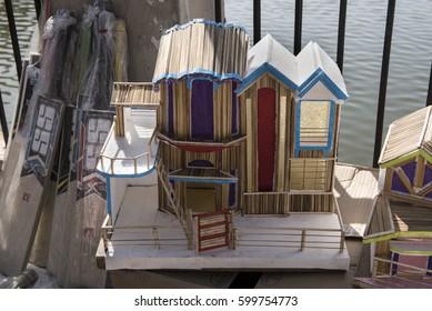 Khajuraho / India 25 February 2017  Handmade Doll House  at khajuraho market (shivaratri fair ) in madhya pradesh India