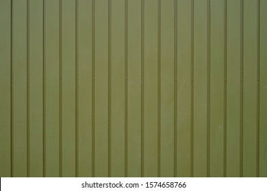 Khaki green vertically striped painted metal background