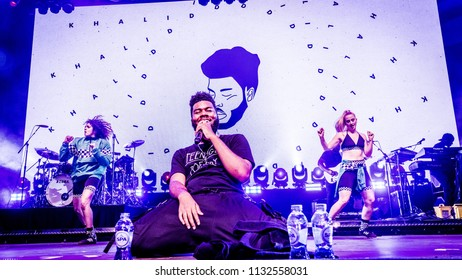 Khalid performance at Rock Werchter Festival, Werchter, Belgium 5-8 July 2018