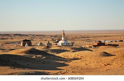 Khamar Khiid Monastery in Gobi desert near Sainshand. Mongolia
