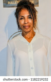 Khandi Alexander arrives at the The Art Of Social Media EMMY Gifting Lounge at the Waldorf Astoria Hotel, Beverly Hills, CA on Sept. 15, 2018.