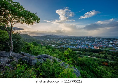 Khao Hin Lek Fai View Point, Features city views. Hua Hin, Natural Green Surrounding City It is a beautiful and famous tourist attraction in Hua Hin, Thailand.