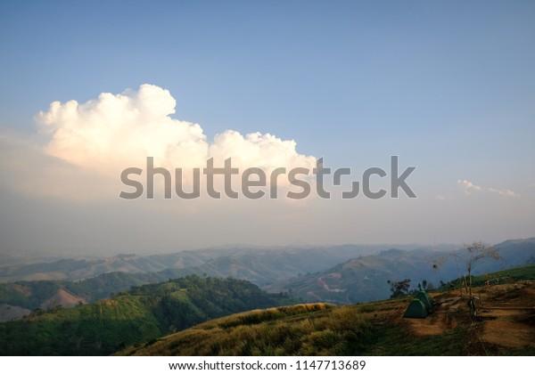 Khao Kho, Mountain View in Phetchabun Province.