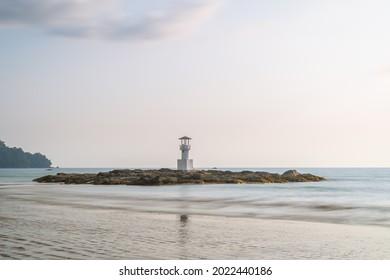 Khao Lak beach with light beacon or lighthouse for navigation, famous travel destination and resort near Phuket, Phang-Nga, Thailand - Shutterstock ID 2022440186