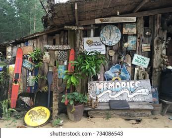 Khao Lak, Thailand - September 16, 2017: memories beach bar at Khao Lak, Thailand