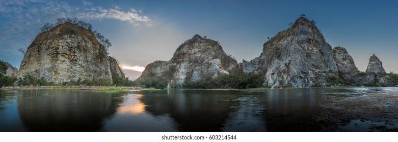 Khao Ngoo Stone Park, Ratchaburi, Thailand