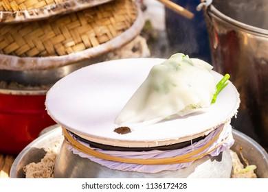 """KHAO PURP"" Thai local noodle at Ban Na Ton Chan village, Sukhothai province in Thailand"