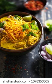 Khao Soi Thai Curry Soup. Thailand Food