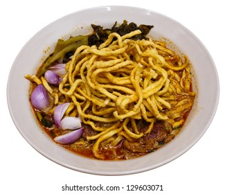 Khao soy , noodle with curry , northern Thai food