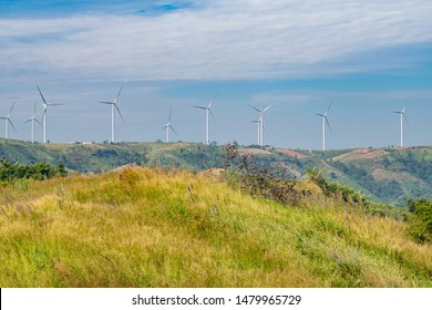 Khao Khao wind turbines on mountain, Phetchabun, Thailand