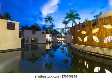 KHAOLAK, THAILAND - NOV 2 : Architecture exterior of the SENTIDO Graceland Khao Lak Resort & Spa. the place is located 90 kilometres north of Phuket, on November 2, 2013 in Khaolak, Thailand
