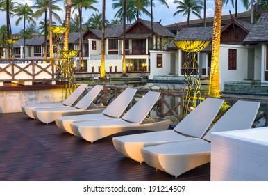 KHAOLAK, THAILAND - NOV 2 : Architecture exterior of the SENTIDO Graceland Khao Lak Resort & Spa. is located 90 kilometres north of Phuket, on November 2, 2013 in Khaolak, Thailand