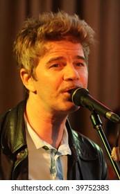 KHARKIV - SEPTEMBER 19: David Arthur Brown (Brazzaville) performs on stage at Jazzter club on September 19, 2009 in Kharkiv, Ukraine.