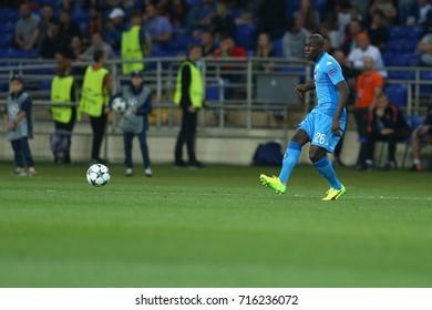 KHARKIV, UKRAINE - 13 SEPTEMBER, 2017: Kalidou Koulibaly makes a pass. Champions League. Shakhtar - Napoli. Metalist stadium
