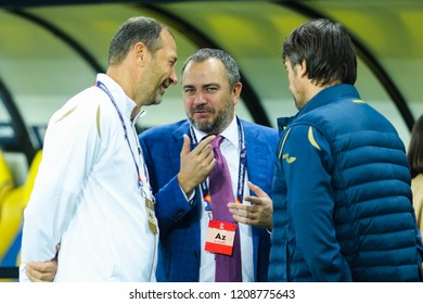 KHARKIV, UKRAINE - 16 OCTOBER 2018: Ukrainian politician and sports functionary  Andriy Pavelko during UEFA League match Ukraine - Czech Republic at Metalist Stadium
