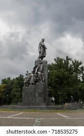 Kharkiv, Ukraine - 2 September, 2017: Monument to the great Ukrainian poet Taras Shevchenko, Kharkov