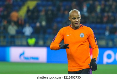 KHARKIV, UKRAINE - 23 OCTOBER 2018: Belgian professional footballer Vincent Kompany  during UEFA Champions League match Shakhtar - Manchester City at Metalist Stadium
