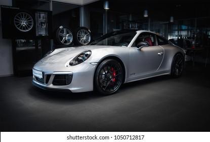 Kharkiv, Ukraine, 24.02.18. Sport Car Porsche carrera 4 gts