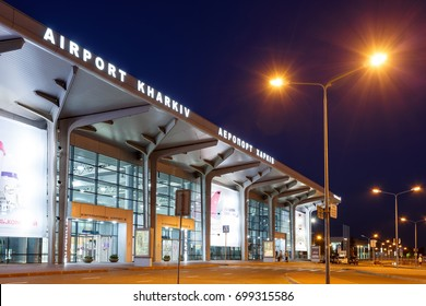 KHARKIV, UKRAINE - AUGUST 20, 2017: Kharkiv International Airport. Terminal A. New terminal of Kharkiv Airport constructed after renovation