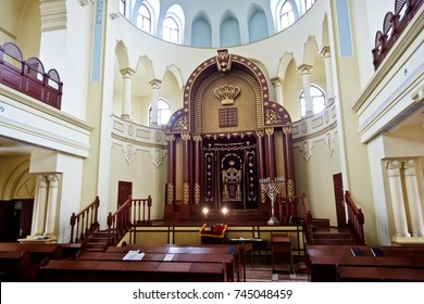 Kharkiv, Ukraine - December 17, 2014: Kharkiv Choral Synagogue interior