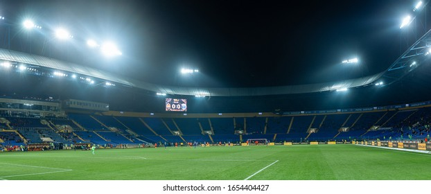 Kharkiv, Ukraine - February 23, 2020: Metalist stadium before UPL match Shakhtar - Desna