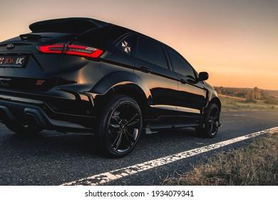Kharkiv, Ukraine - July 2020: Ford Edge ST