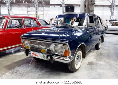 Kharkiv, Ukraine - May 19, 2018: Soviet retro car IZ 2125 combi manufactured in 1976 is presented at the festival of vintage cars Kharkiv Retro Rally - 2018 in Kharkiv, Ukraine on May 19, 2018