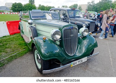 Kharkiv, Ukraine - May 22, 2016: Retro car Audi Front-225 manufactured in 1936 is presented at the festival of vintage cars Kharkiv Retro Rally - 2016 in Kharkiv, Ukraine on May 22, 2016
