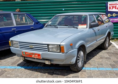 Kharkiv, Ukraine - May 28, 2017: Retro car silver Ford Taurus manufactured in 1979 is presented at the festival of vintage cars Kharkiv Retro Rally - 2017 in Kharkiv, Ukraine on May 28, 2017
