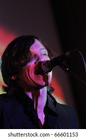 KHARKIV, UKRAINE - NOVEMBER 12: Naik Borzov performs on stage at Jazzter club on November 12, 2010 in Kharkiv, Ukraine