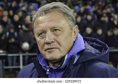 Kharkiv, UKRAINE - November 15, 2016: Miron Markevich during the friendly match national football team of Ukraine vs national team of Serbia, Metalist stadium, Ukraine