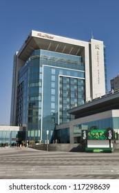 KHARKIV, UKRAINE - OCTOBER 03: The first Kharkiv 5-star hotel Kharkiv Palace opened in December 2011 on October 03, 2012 in Kharkiv, Ukraine. Here was UEFA HQ during Football Euro Championship 2012.