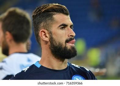 KHARKIV, UKRAINE - September 13, 2017: Football player during the UEFA Champions League match between Shakhtar vs SSC Napoli, Ukraine