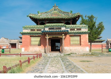 KHARKORIN, MONGOLIA - Jun 28 2017: Erdene Zuu Monastery (World Heritage Site) in Kharkhorin (Karakorum), Mongolia. It is part of the Orkhon Valley Cultural Landscape World Heritage Site.